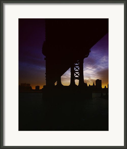Manhattan  Framed Print By Geo Romolo