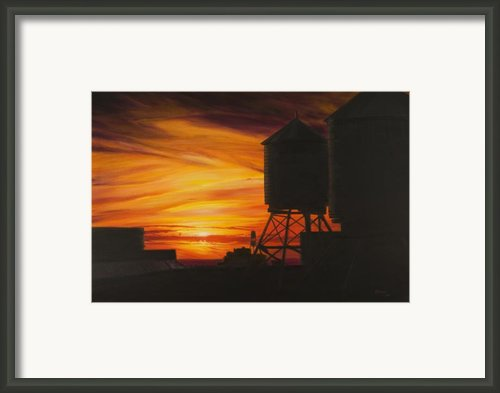 Manhattan Sunset Framed Print By Christopher Oakley
