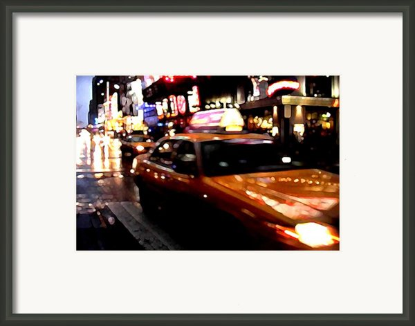 Manhattan Taxis Framed Print By Jose Roldan Rendon