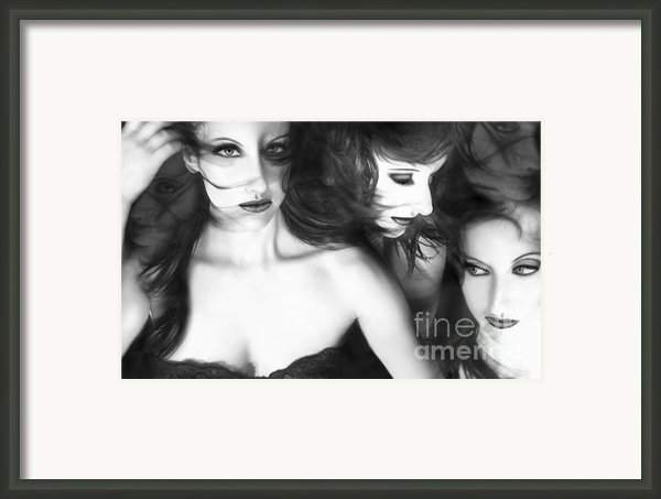 Manic Mental Momentum - Self Portrait Framed Print By Jaeda Dewalt