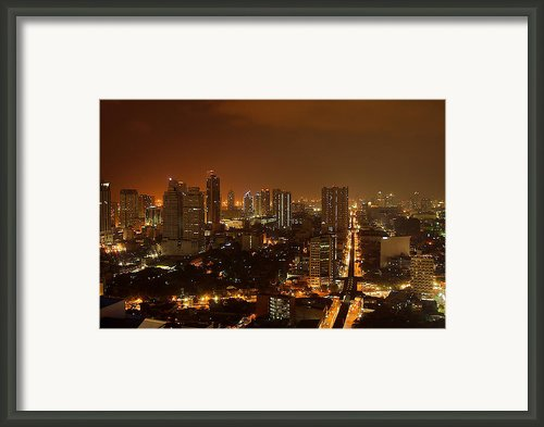 Manila City 02 Framed Print By Arj Munoz