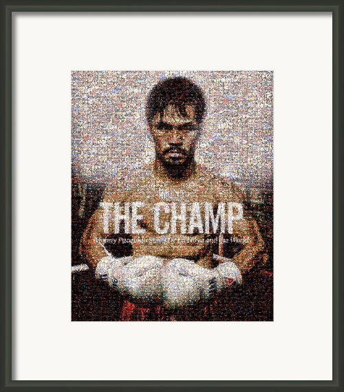 Manny Pacquiao-the Champ Framed Print By Ted Castor