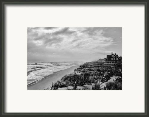 Mantoloking Beach - Jersey Shore Framed Print By Angie Mckenzie