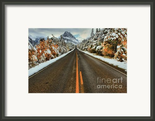 Many Glacier Road Framed Print By Adam Jewell