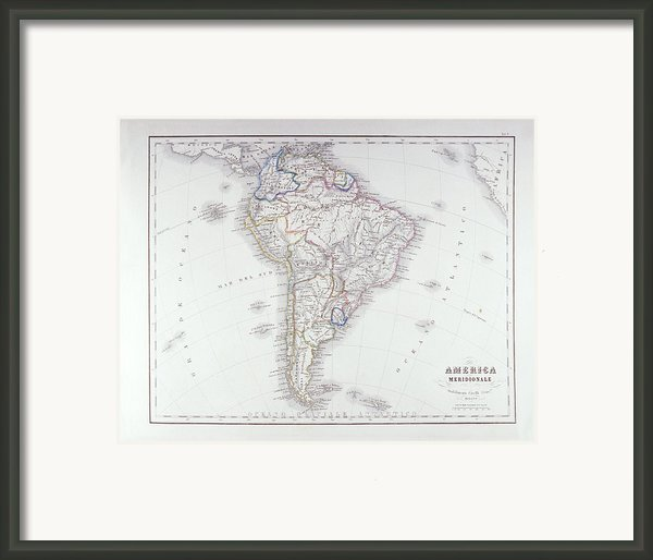 Map Of South America Framed Print By Fototeca Storica Nazionale