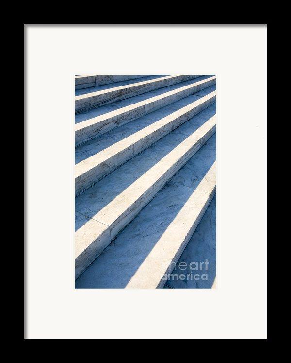 Marble Steps, Jefferson Memorial, Washington Dc, Usa, North America Framed Print By Paul Edmondson