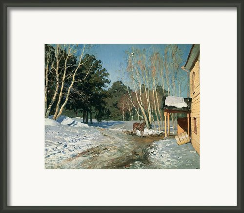 March Framed Print By Isaak Ilyich Levitan