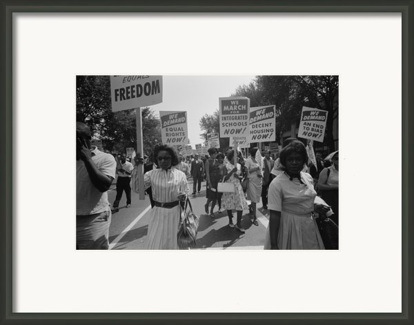 March On Washington. African Americans Framed Print By Everett