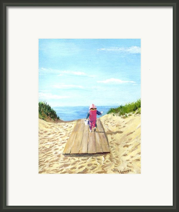 March To The Beach Framed Print By Jack Skinner