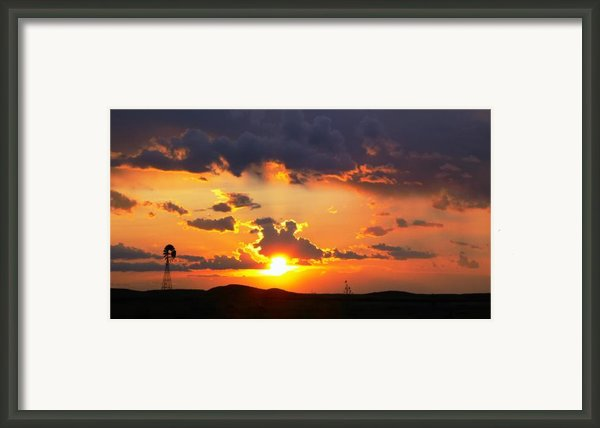 Marfa Windmill 2 Framed Print By Skip Hunt