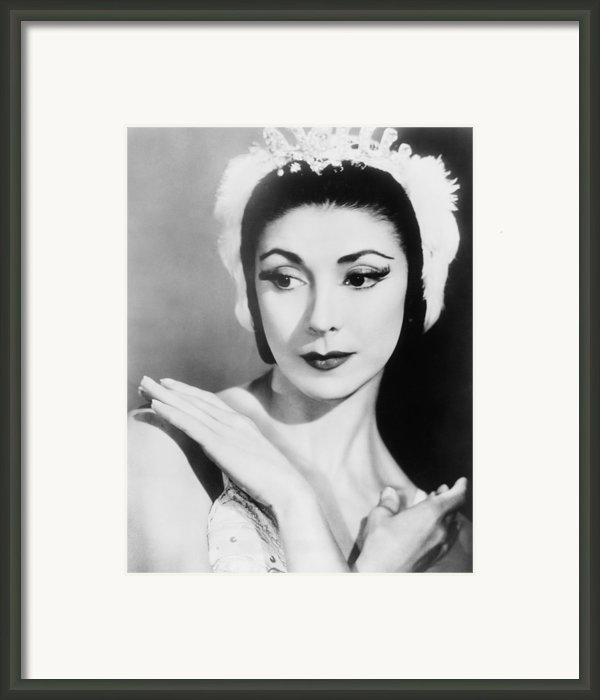 Margot Fonteyn 1919-1991 In 1960, When Framed Print By Everett