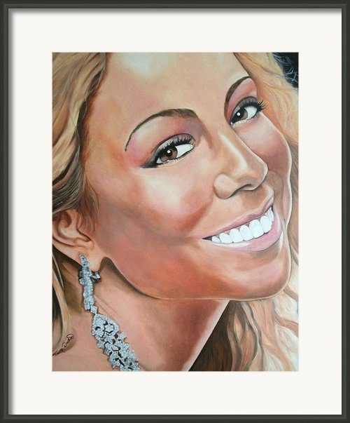Mariah Carey Framed Print By Timothe Winstead