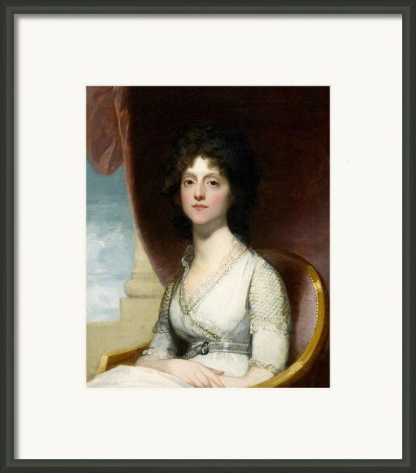 Marianne Ashley Walker Framed Print By Gilbert Stuart