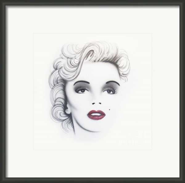 Marilyn Monroe Framed Print By Devaron Jeffery