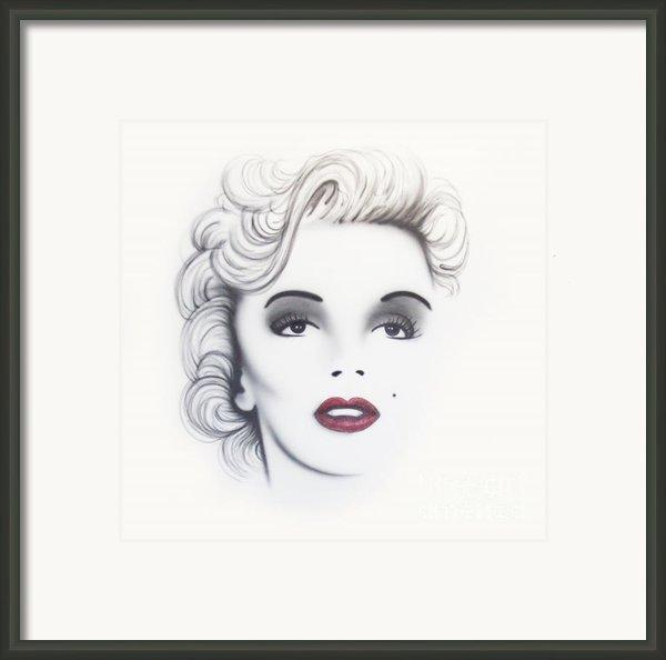 Marilyn Monroe Framed Print By Devaron Jeffery