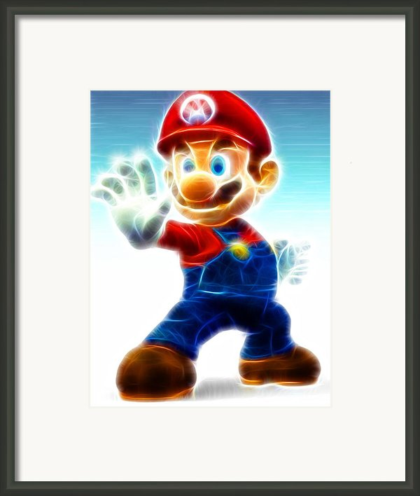 Mario Framed Print By Paul Van Scott