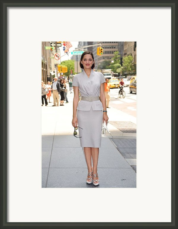 Marion Cotillard Wearing A Dior Suit Framed Print By Everett