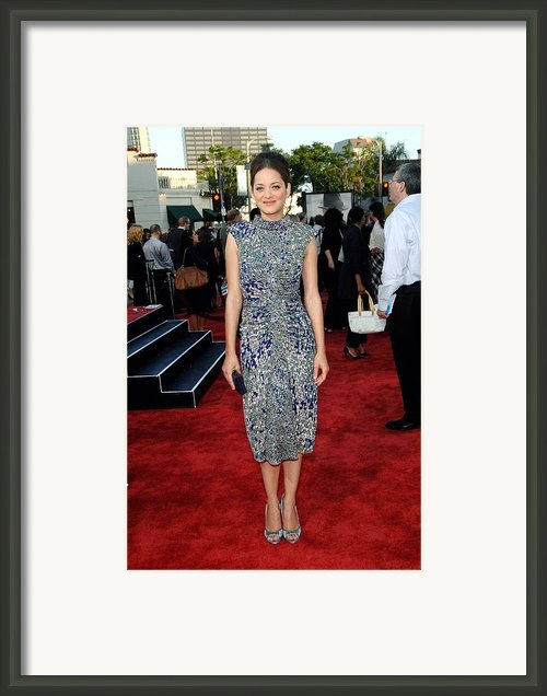 Marion Cotillard Wearing An Elie Saab Framed Print By Everett