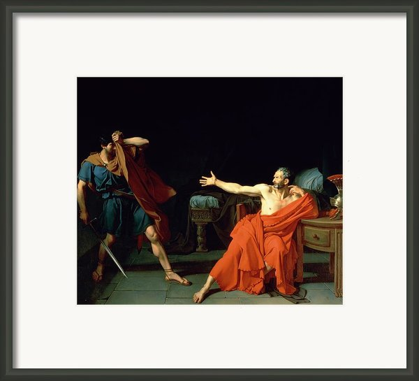Marius At Minturnae Framed Print By Jean-germain Drouais
