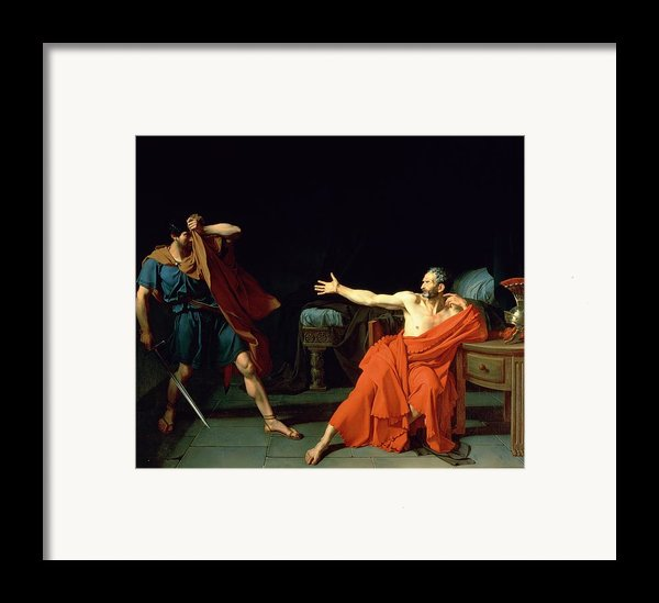 Marius At Minturnae Framed Print By Jean-germain Drouais