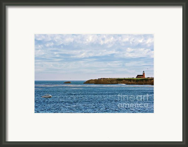 Mark Abbot Memorial Lighthouse - Lighthouse On The Beach - Santa Cruz Ca Usa Framed Print By Christine Till