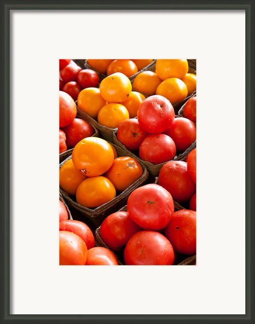 Market Tomatoes Framed Print By Lauri Novak