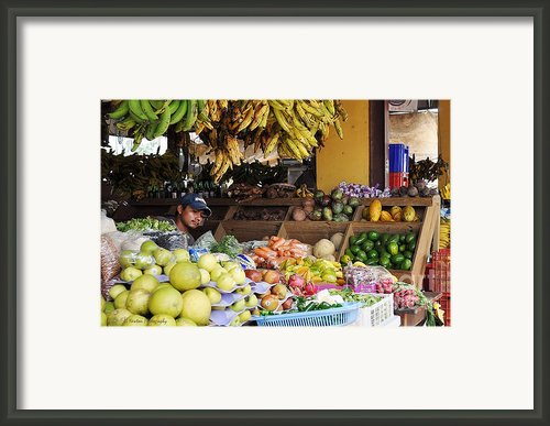 Market Vendor Framed Print By Li Newton