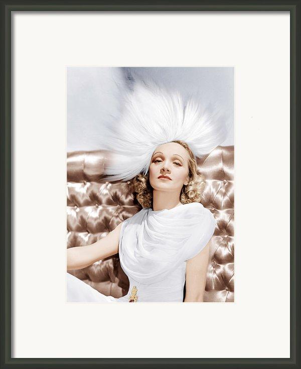 Marlene Dietrich, Ca. 1930s Framed Print By Everett