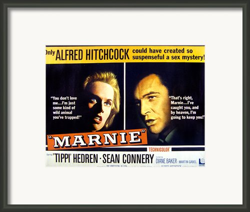 Marnie, Tippi Hedren, Sean Connery, 1964 Framed Print By Everett