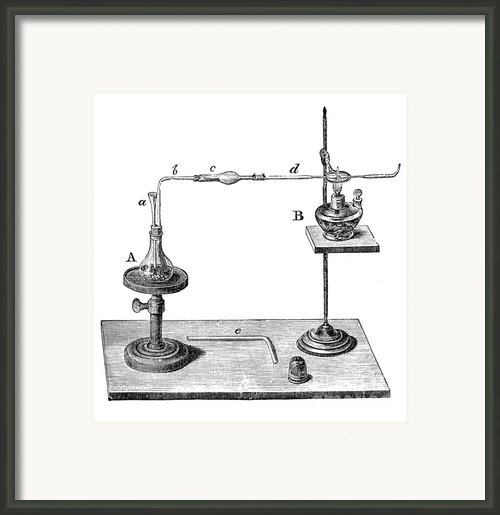 Marsh Test Apparatus, 1867 Framed Print By Science Source