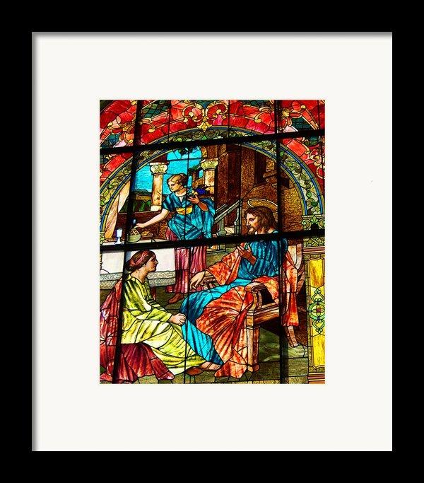 Martha And Mary Framed Print By Diane E Berry