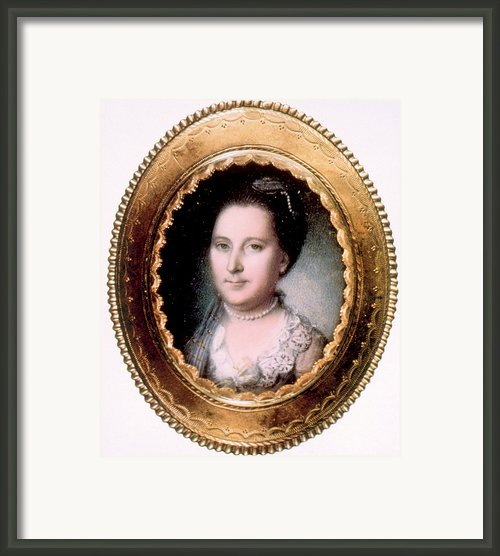 Martha Washington 1731-1802, First Lady Framed Print By Everett