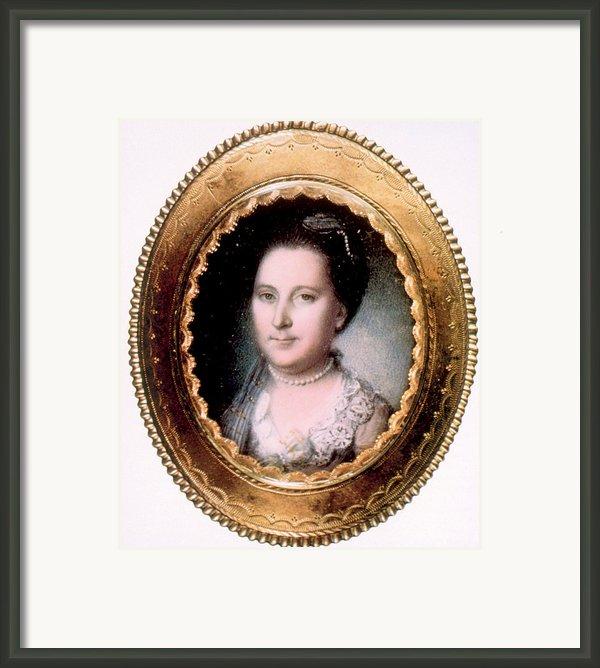 Martha Washington 1731-1802, First Lady Framed Print By Everett