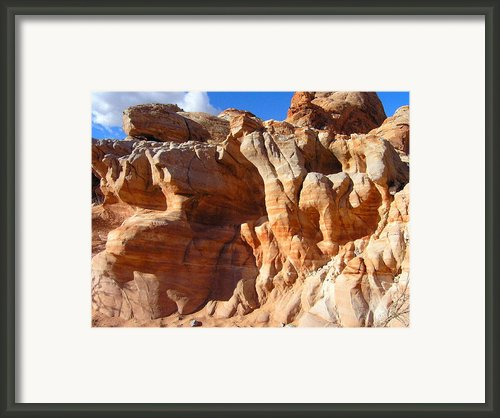 Martian Cliffs Framed Print By Silvie Kendall