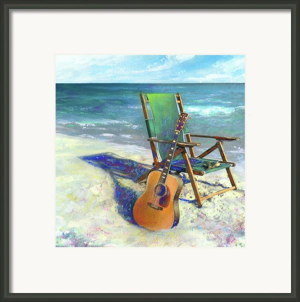 Martin Goes To The Beach Framed Print By Andrew King