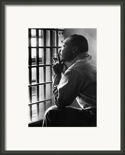 Martin Luther King, Jr, Sitting Framed Print By Everett