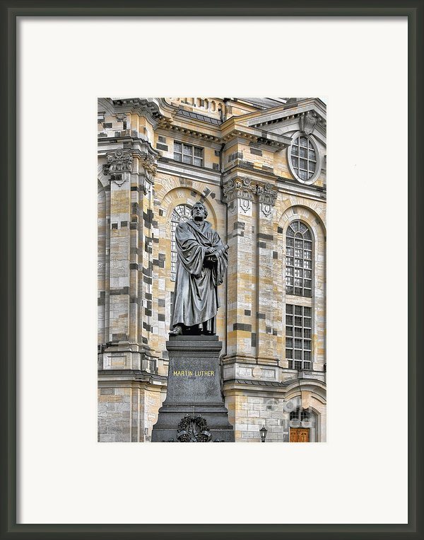 Martin Luther Monument Dresden Framed Print By Christine Till