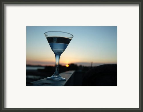 Martini Sunset Framed Print By John Finch