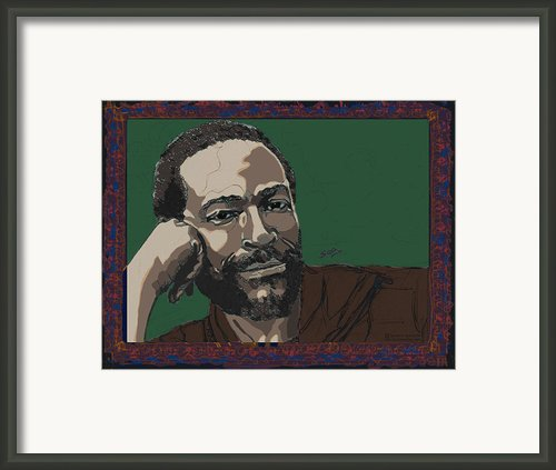 Marvin Gaye  Framed Print By Suzanne Gee