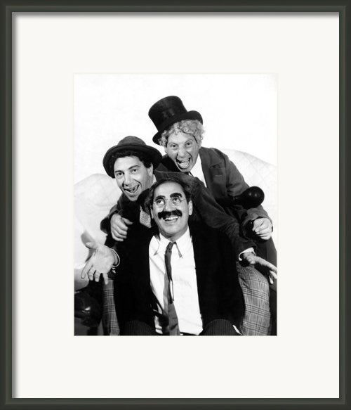 Marx Brothers, The Chico, Groucho Framed Print By Everett