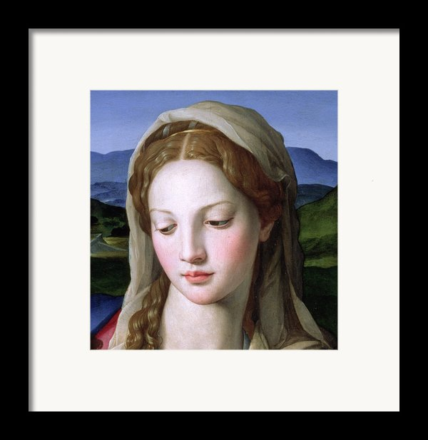 Mary Framed Print By Agnolo Bronzino