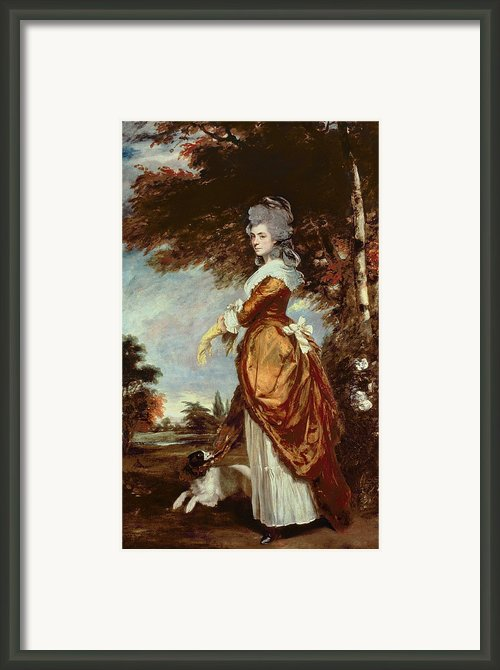 Mary Amelia First Marchioness Of Salisbury Framed Print By Sir Joshua Reynolds
