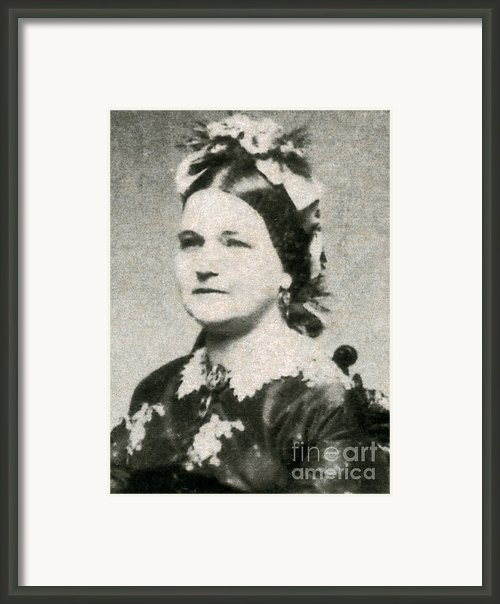 Mary Todd Lincoln, First Lady Framed Print By Photo Researchers
