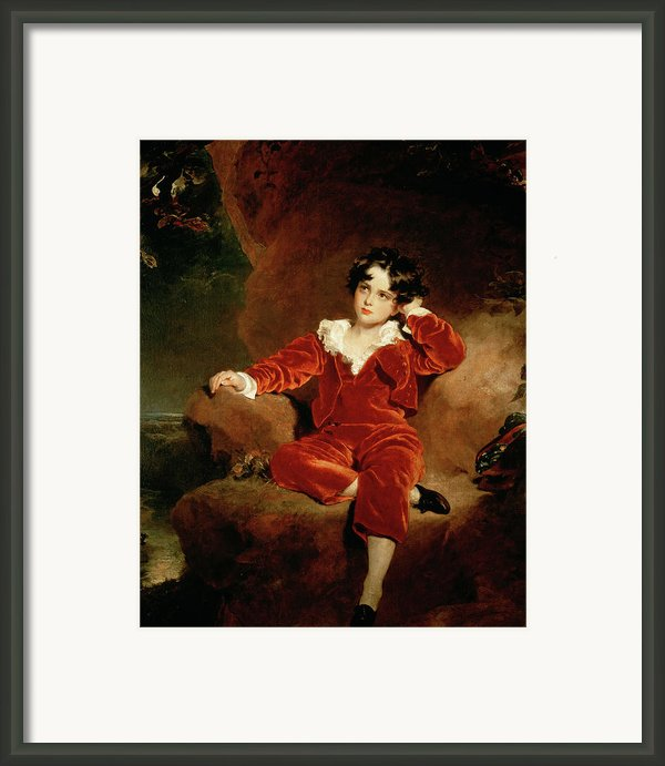 Master Charles William Lambton Framed Print By Sir Thomas Lawrence