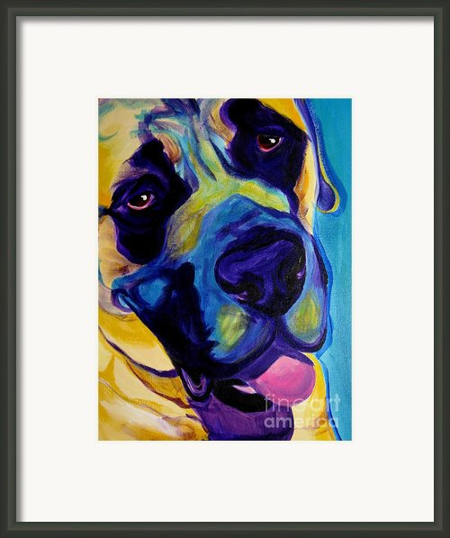 Mastiff - Lazy Sunday Framed Print By Alicia Vannoy Call