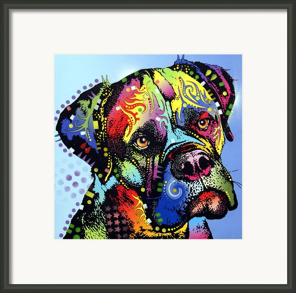 Mastiff Warrior Framed Print By Dean Russo