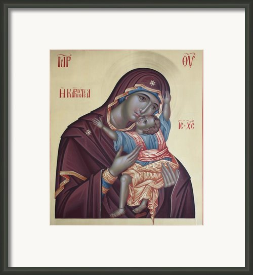 Mather Of God Kardiotisa Framed Print By Daniel Neculae