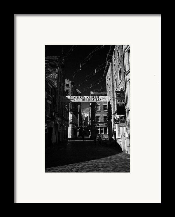 Mathew Street In Liverpool City Centre Birthplace Of The Beatles Merseyside England Uk Framed Print By Joe Fox