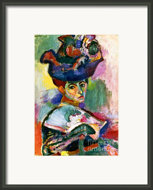 Matisse: Woman W/hat, 1905 Framed Print By Granger