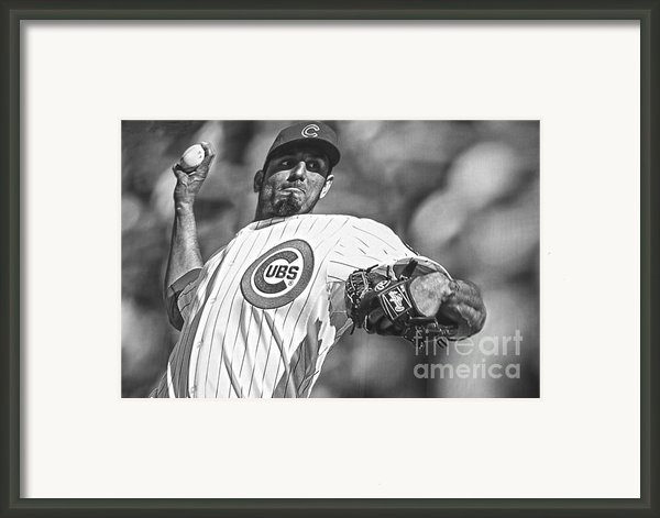 Matt Garza Framed Print By David Bearden